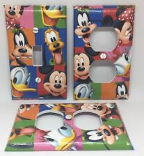 DISNEY MICKEY DONALD GOOFY LIGHT SWITCH AND OUTLET COVERS - FREE SHIPPING!!