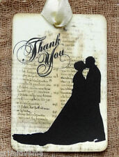 Hang Tags  BRIDE & GROOM SILHOUETTE WEDDING THANK YOU TAGS #655  Gift Tags