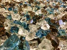 Brown / White / Blue  Fireplace / Fire pit Fireglass 3-50 LBS FREE SHIPPING!!!
