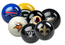 NFL Pool Balls - Pick Your Team - NFL Team Logo Billiard Pool Cue Balls - NEW