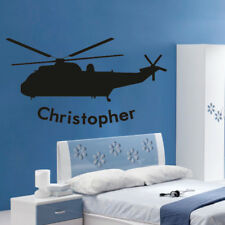 ARMY HELICOPTER wall stickers boys kids decal bedroom soldiers transfer sticker