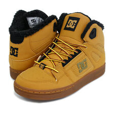 DC KIDS / CHILDREN / YOUTH REBOUND LE HIGH TOPS SKATE SHOES WHEAT (WE9)