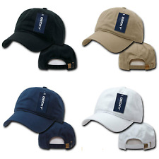DECKY New Two Ply Polo Washed Heavy Cotton 6 Panel Dad Cap Caps Hat Hats