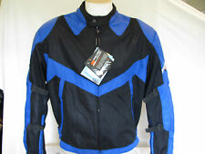 New MESH Black & Blue 600D Duratex  Armored Motorcycle Biker Jacket Retail $129
