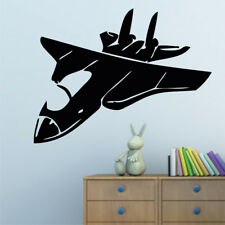 JET PLANE wall sticker fighter jumbo jets army stickers decal planes art vinyl