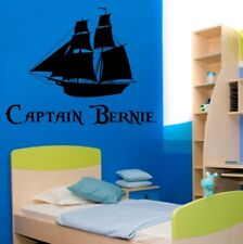 PIRATE SHIP wall sticker boys kids personalised bedroom stickers art vinyl decal