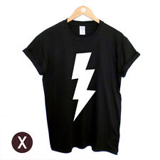 LIGHTNING PRINT T SHIRT / MENS PRINTED TEE / DOPE RELIGION SWAG OBEY BOY TOP MAN