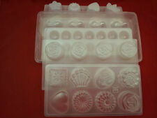 rose rabbit ball heart flower star leaf Pastic mould jelly chocolate craft new