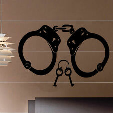 Handcuffs Decal Vinyl Wall Sticker