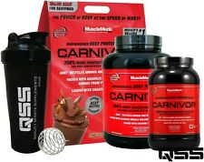 MuscleMeds CARNIVOR BEEF PROTEIN ISOLATE 4LB/2LB ZERO FAT CHOLECTEROL & SUGAR