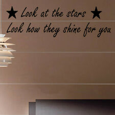 Look at the Stars Coldplay Song Lyrics Decal Vinyl Wall Sticker