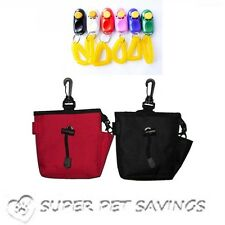 Dog Pet Treat Training Bait i-click Ball Pouch Bag & i-clicker with Wristband