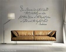 For in Dreams We Enter a World Dumbledore vinyl wall art decal