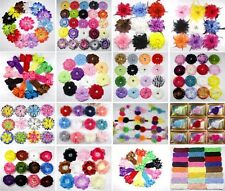 Wholesale Baby girl Peony Daisy Shabby Lily  Flower Hair Bows Clips for Headband