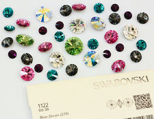SWAROVSKI ELEMENTS 1122 Rivoli Round Stone Foiled Glue Fix * Many Colors & Sizes