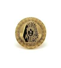 NEW CELEBRITY STYLE KING TUT PHARAOH PIECE STRETCH BASE RING XR60