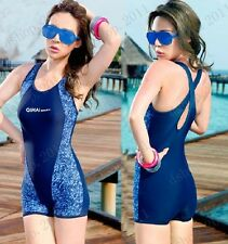 Professional Diving Athlete Women's One Piece  Sports Swimming Bathing Swimsuit