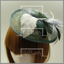 Ladies Sinamay Bridal Feather Rose Beret Cocktail Hat Fascinators MULTICOLORS Y1