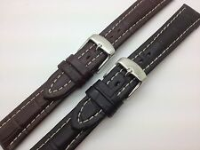 20mm Black Brown Hadley Roma Genuine Leather Watch Band fits for Breitling MS895
