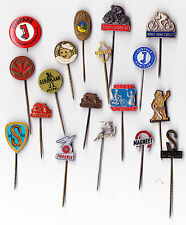 Vtg Bicycle Brand & Cycling Round pin badges 1960s Fiets Cycle Bike Velo 1/2