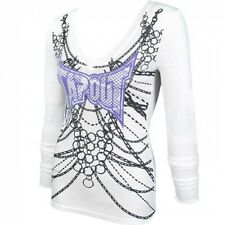 BNWT TAPOUT WOMENS WHT BODY ARMOR V-NECK THERMAL M L XL MMA