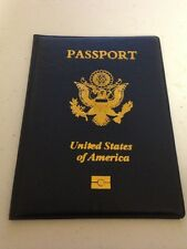 USA Passport Cover Holder NAVY GREEN or BLACK Travel Wallet Case US