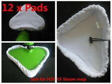 12 x Pads For H2O H20 X5 Steam Mop Cloth Cleaner Washable Microfibre Replacement