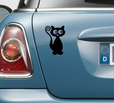 1 x CAT CAR STICKER DECAL TRANSFER - laptop bike caravan wall window door glass