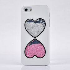 New Heart Bling Diamonds Crystal Rhinestone Case Cover For iPhone4 4S 5 5G 45SX