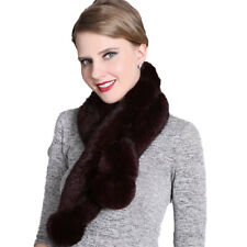 free shipping /real  Whole  rabbit fur  handmade  scarf  /black /white
