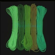 New 9 Core Strand 550 Luminous Glow in the Dark Paracord Parachute Cord 50/100FT