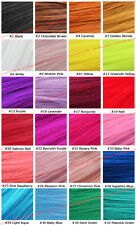 """22"""" Clip On In Colorful Straight Hair Extension Party Solid & Two Tone USA Lot"""
