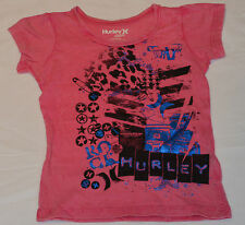 Hurley Girls Printed T Shirt - PINK- Sizes 12 M, 18M,2,3 & 4- NEW