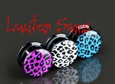 Acrylic Screw Ear Flesh Tunnel - Choice of colours - 7 Sizes **FREE POST**
