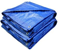 BRAND NEW BLUE POLY TARP GOOD FOR BOAT COVER CAMPGROUND TENT FLY