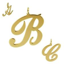 375 SOLID 9CT GOLD ANY INITIAL LETTER DROP PENDANT SMALL MEDIUM LARGE