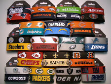 NFL Football Silicone Rubber Wristband/Bracelet 2 pack  *Bundle price available*