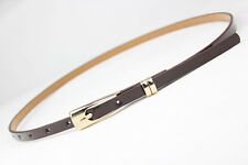 Candy Color Rectangle Cross Buckle Waistband PU Leather Thin Skinny Belt Girdle