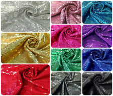 3mm Micro Mini Shiny Sequins on Stretch Polyester Spandex Fabric