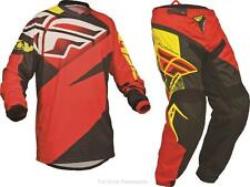 Fly Racing Red/Black F-16 Jersey & Pant Combo Sizes MX/ATV/BMX 2014 Riding Gear