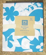 POTTERY BARN ~ BOLD BLOOM BLUE DUVET ~ TWIN or FULL/QUEEN ~ PB TEEN BEDDING