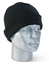 Unisex Thinsulate Lined Warm Beanie Hat Winter Cold - Black Navy Charcoal Grey