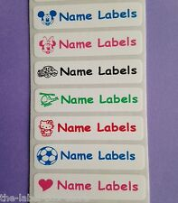 10 Stick on School Printed Identity Name Labels Stickers Tags for Belongings