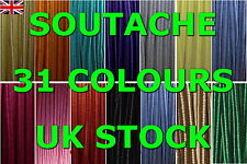 SOUTACHE (ORIGINAL) BRAID CORD 1,2,3,5,10  METERS, 3 MM WIDE,  32 COLORS STRING