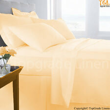 "HOTEL BRAND 800TC ""ORANGE"" SOLID-STRIPE 100%EGYPTIAN COTTON BEDDING SET ALL SIZE"