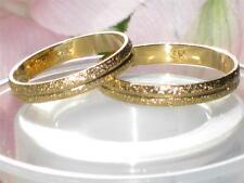 CLASSY MENS OR WOMENS SPARKLE  3MM 18KT gold plated WEDDING BAND ring  ygB19