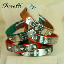 Free Engraving Personalized Leather Bracelets For Couples Lover Name Gifts 1pic