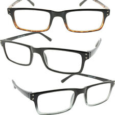 Mens Reading Glasses Rectangle Frames Contemporary Smart Look High Quality