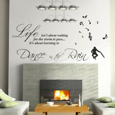 DANCE IN THE RAIN wall sticker large decal quote stickers mural large art vinyl
