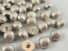 100/300/500pcs Resin Silver Mushroom Buttons With Back Hole For SewingCraft Baby